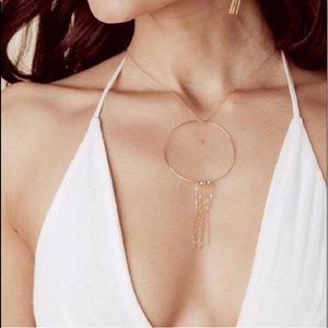 Vanessa Mooney beat generations gold hoop necklace